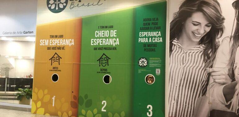 ONG Esperança Brasil ajuda famílias e mostra seu trabalho no Garten Shopping