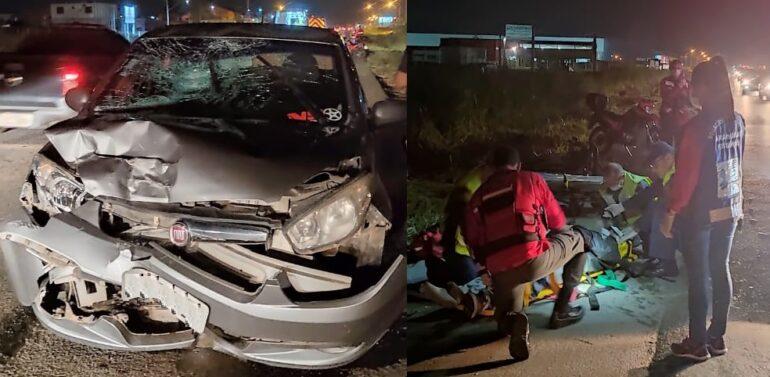 Motorista foge sem prestar socorro após colidir em moto