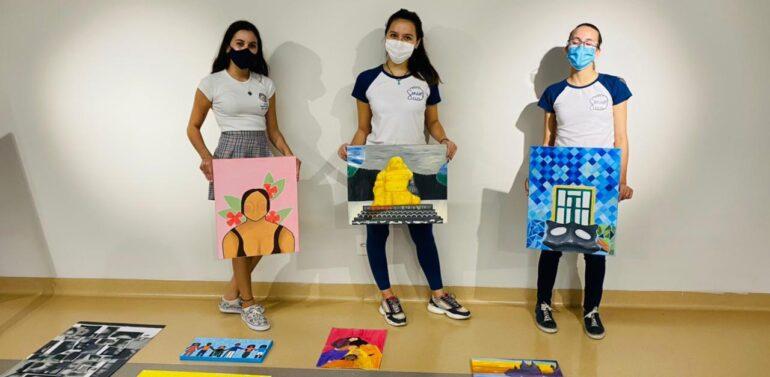 Alunas da Coree International School realizam mostra de arte