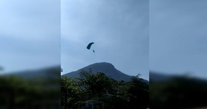 VÍDEO : Joinvilense morre em salto de base jump no Rio de Janeiro
