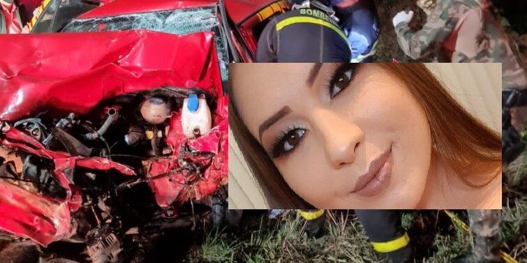Jovem morre em acidente envolvendo carro do Corpo de Bombeiros na BR-280