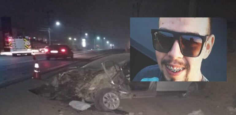 Jovem morre em acidente na BR-280