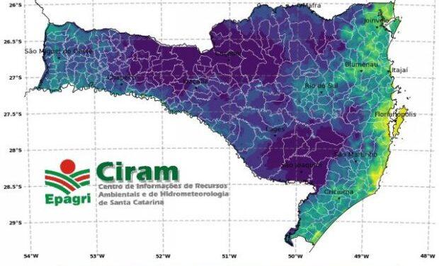 Defesa Civil e Ciram preveem temperaturas negativas e geada nesta terça-feira