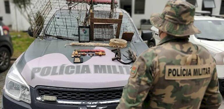 Polícia Ambiental flagra caçador na Zona Industrial