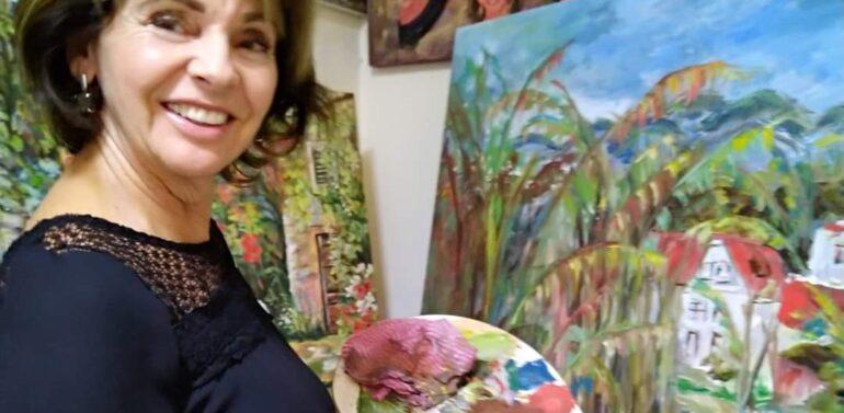 Vera Russi Mattar abre exposição Amor, Paixão e Arte no Garten Shopping