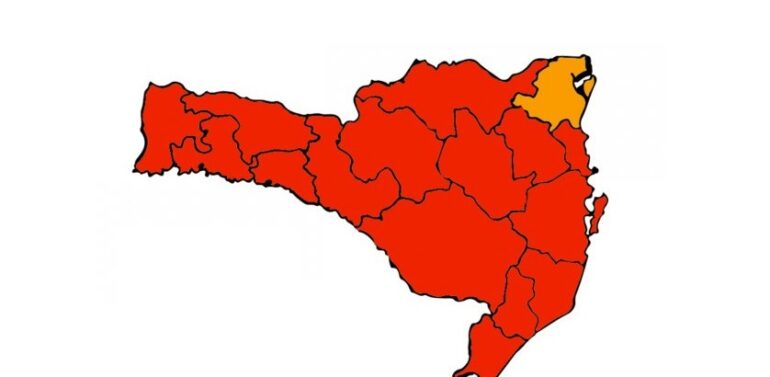 Região de Joinville encontra em nível grave para Covid-19