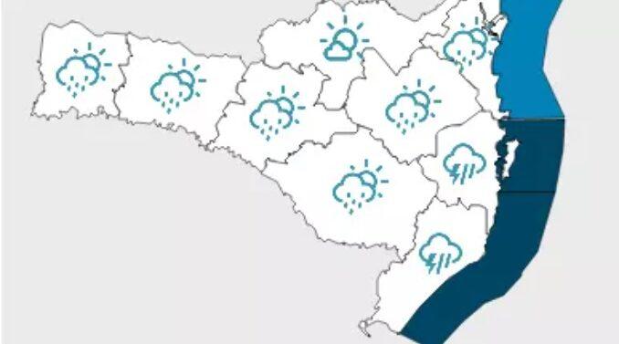Quarta-feira segue com acumulados de chuva