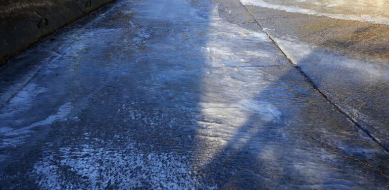 PMRv alerta para pontos congelados na Serra do Rio do Rastro
