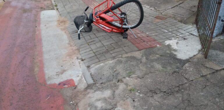 Mulher morre em grave acidente envolvendo moto e bicicleta