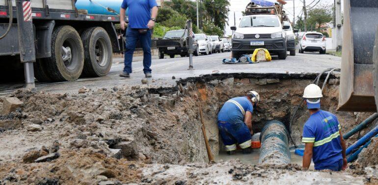 Companhia Águas de Joinville realiza manutenção da rede terça-feira