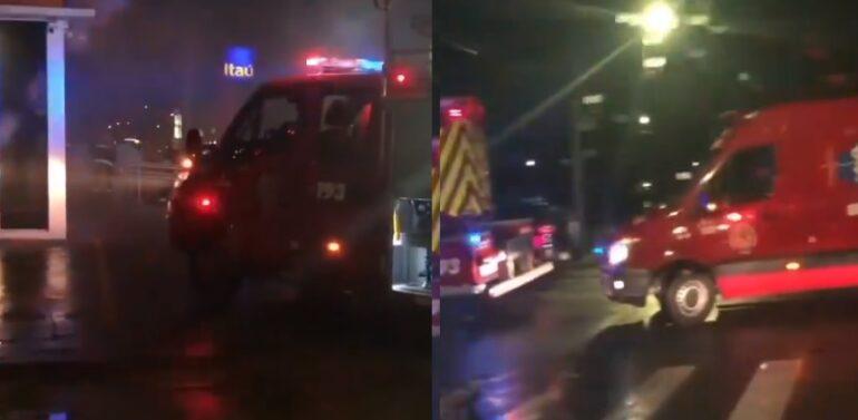 Incêndio em caixa eletrônico no Santo Antônio mobiliza bombeiros