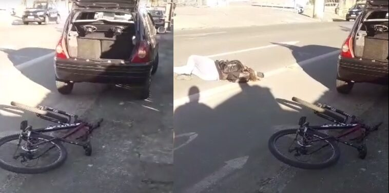 Ciclista fica ferida após ser atingida por carro no Iririú