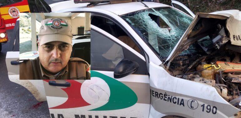Identificado policial militar que morreu em acidente com pista congelada na SC-390