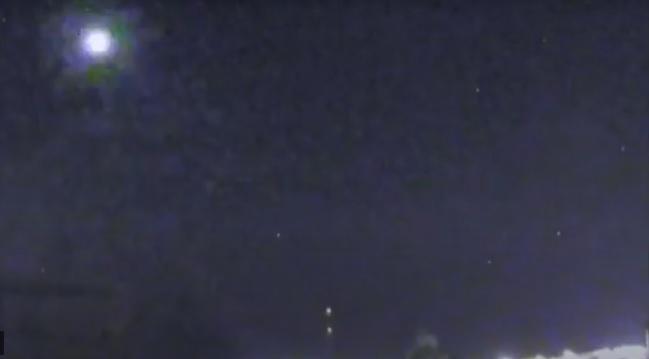 Estação capta explosão de meteoro no Planalto Norte
