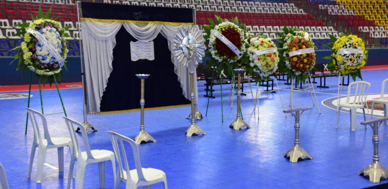 Ginásio em Umuarama está preparado para velório de vítimas de acidente na BR-376