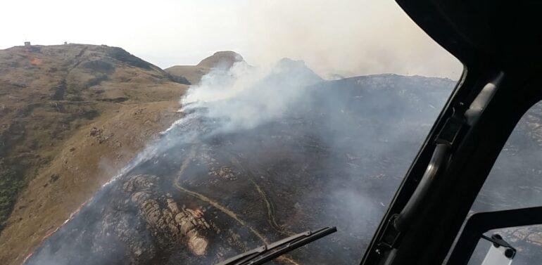 Incêndio nos Campos do Quiriri é controlado