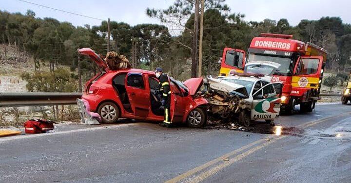 Acidente em rodovia com pista congelada mata policial militar