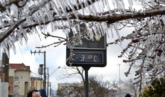 Dia mais frio do ano com temperatura negativa em 69 municípios