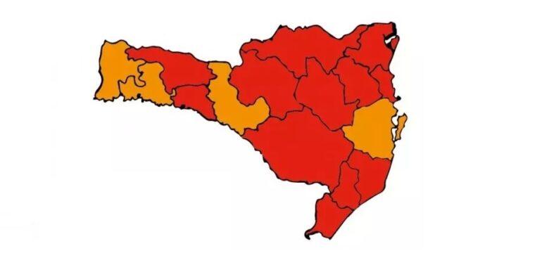 Região de Joinville continua no patamar gravíssimo para a Covid-19