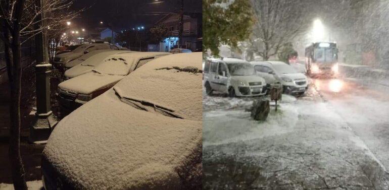 VÍDEO : Cidades do RS registram verdadeira nevasca nesta quarta-feira