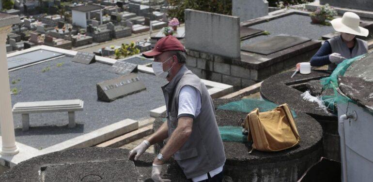 Prefeitura de Joinville realiza ação de limpeza no Cemitério Municipal
