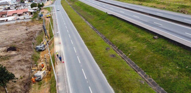 ALS realiza obras para implantação de passarela na região de Garuva