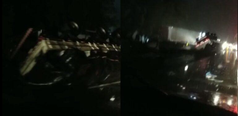 Acidente grave na BR 101- SC interdita faixas