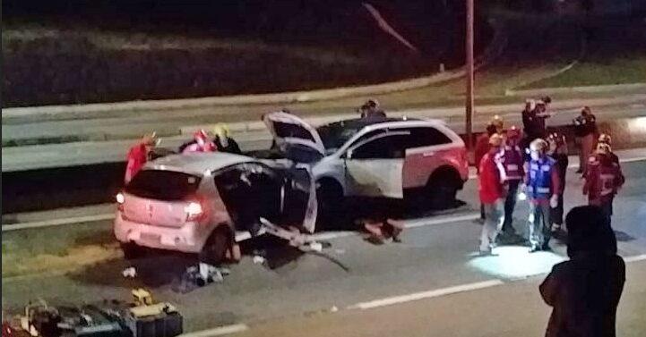 Carro na contramão mata duas pessoas na BR-101 em Joinville