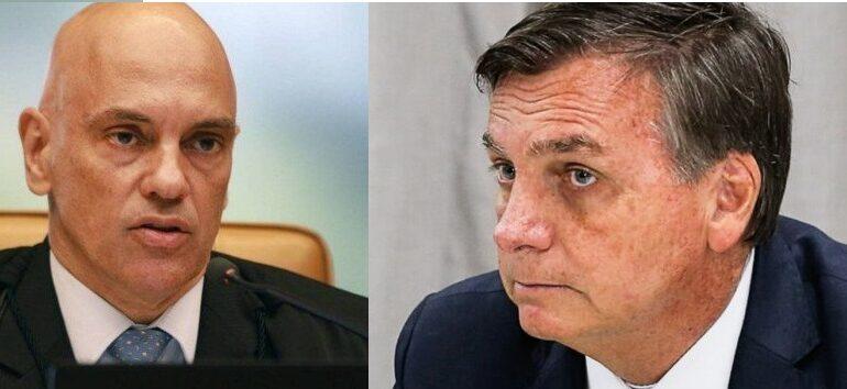 Alexandre de Moraes manda investigar Bolsonaro por suposto vazamento de dados sigilosos