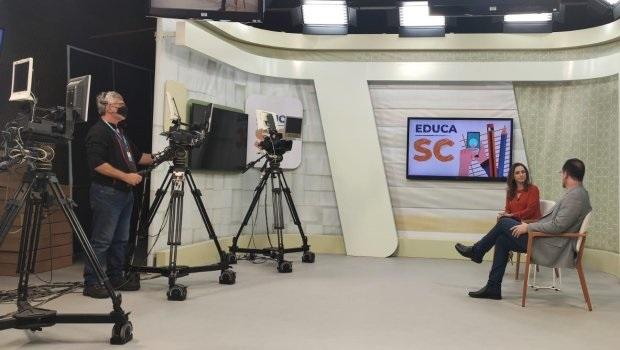 Canal de aulas na TV aberta Educa SC estreia nesta segunda-feira