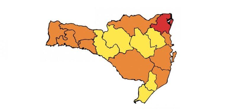 Região de Joinville é a única no estado com o risco gravíssimo para a Covid-19