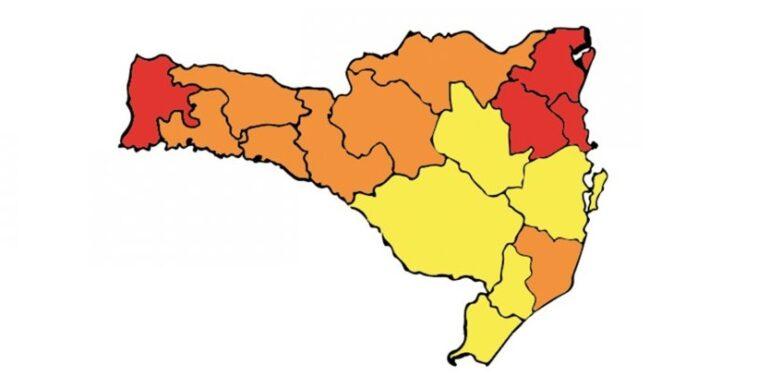 Região de Joinville permanece com risco gravíssimo para Covid-19.