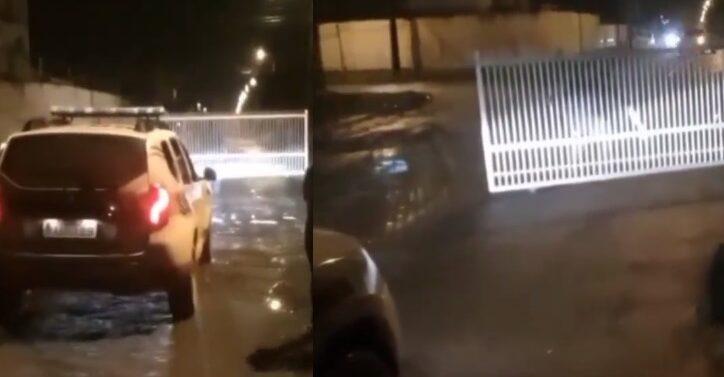 PM obriga suspeito a devolver portão furtado no Jardim Iririú