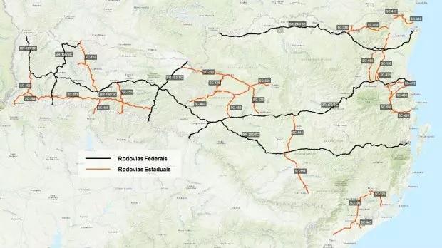 Estudo avaliará viabilidade de concessão de rodovias em Santa Catarina
