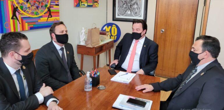 Prefeito Adriano Silva realiza reunião com deputados federais