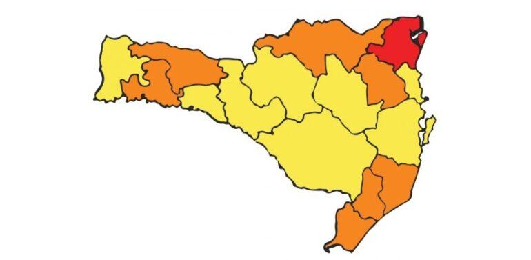Região de Joinville permanece com risco gravíssimo para Covid-19