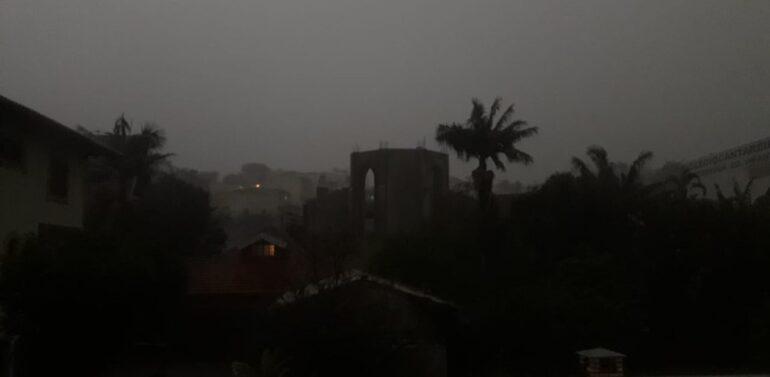 Região de Joinville tem alerta laranja para tempestade nesta quarta-feira