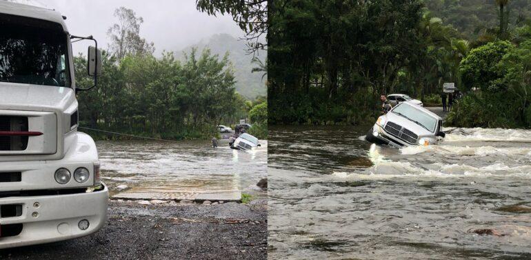 VÍDEO : Picape de Luxo cai em rio após condutor tentar atravessar ponte